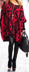 PONCHO AND LEATHER