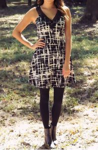 black and white dress - modern ego